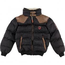 """Kurtka zimowa """"Abramovitch"""" w kolorze czarnym. Czarne kurtki chłopięce zimowe Geographical Norway Kids & Women, ze skóry. W wyprzedaży za 250,95 zł."""