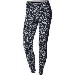 Spodnie damskie: Nike Legginsy Sportowe W Nsw Lggng Club Prnt Black/White Xs