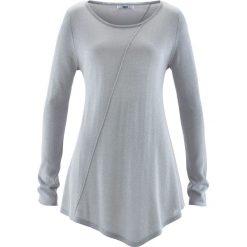 Swetry klasyczne damskie: Sweter z błyszczącą nitką, długi rękaw bonprix matowy srebrny – metaliczny srebrny