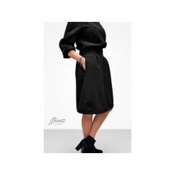 Sukienka casual midi z bufiastymi rękawami. Niebieskie sukienki na komunię marki Bien fashion, na co dzień, s, casualowe, midi, sportowe. Za 129,00 zł.
