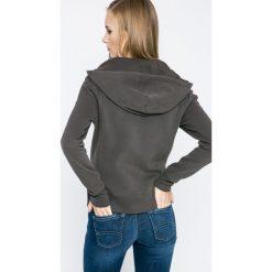 Calvin Klein Jeans - Bluza. Brązowe bluzy z kapturem damskie marki Calvin Klein Jeans, l, z bawełny. W wyprzedaży za 329,90 zł.