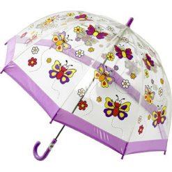 "Parasole: Parasol ""Butterfly"" w kolorze fioletowym ze wzorem"