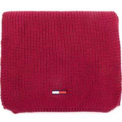 Szal TOMMY JEANS - Tju Basic Rib Scarf AU0AU00288  652. Czerwone szaliki męskie Tommy Jeans, z bawełny. Za 229,00 zł.