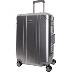 Walizka w kolorze szarym - 35 l. Szare walizki Platinium, z materiału. W wyprzedaży za 349,95 zł.