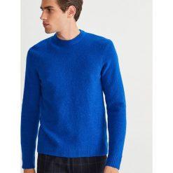 Sweter - Niebieski. Swetry klasyczne męskie . Za 119,99 zł.
