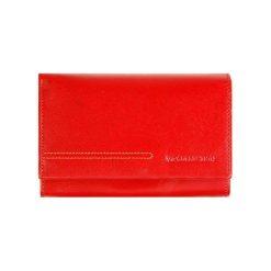 Portfele damskie: Skórzany portfel w kolorze czerwonym – (S)10 x (W)14 cm