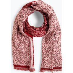 Calvin Klein - Szalik damski, czerwony. Czerwone szaliki damskie marki Calvin Klein, z napisami. Za 279,95 zł.