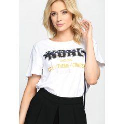 T-shirty damskie: Biały T-shirt None