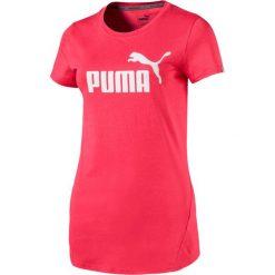 KOSZULKA ESS NO-1 TEE W PARADISE PINK. Różowe bluzki z odkrytymi ramionami marki Puma, z syntetyku, z krótkim rękawem. Za 58,99 zł.