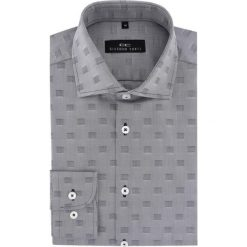 Koszula BIAGIO 16-06-19. Szare koszule męskie na spinki marki S.Oliver, l, z bawełny, z włoskim kołnierzykiem, z długim rękawem. Za 199,00 zł.