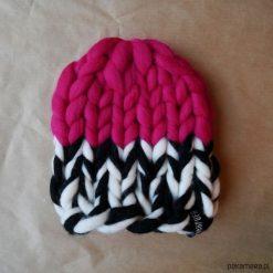 Czapki damskie: Kolorowa, ciepła czapka Beanie w grubym splocie