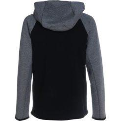 Nike Performance Bluza rozpinana black heather/carbon heather/(anthracite). Czarne bluzy chłopięce Nike Performance, z bawełny. W wyprzedaży za 223,30 zł.