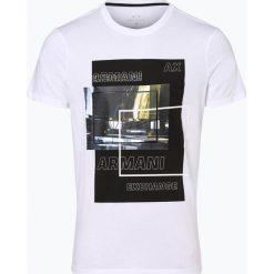 Armani Exchange - T-shirt męski, czarny. Czarne t-shirty męskie marki Armani Exchange, l, z materiału, z kapturem. Za 179,95 zł.