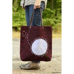 Torba na zakupy DMUCHAWIEC. Brązowe shopper bag damskie Pakamera, z aplikacjami, ze skóry, z aplikacjami. Za 69,00 zł.