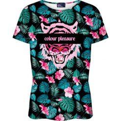 Colour Pleasure Koszulka damska CP-030 259 czarno-różowa r. XL/XXL. Fioletowe bluzki damskie marki Colour pleasure, uniwersalny. Za 70,35 zł.