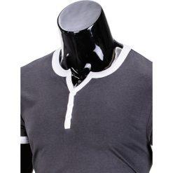 T-SHIRT MĘSKI BEZ NADRUKU S651 - GRAFITOWY. Szare t-shirty męskie z nadrukiem marki Ombre Clothing, m. Za 29,00 zł.