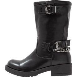 Coolway BROOK Kowbojki i Buty motocyklowe black. Czarne buty zimowe damskie Coolway, z materiału. W wyprzedaży za 209,30 zł.