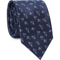 Krawat w muchy KWGR000299. Szare krawaty męskie Giacomo Conti, z jedwabiu. Za 129,00 zł.