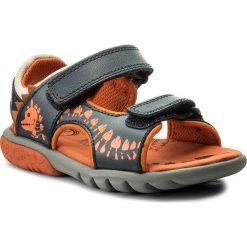 Sandały CLARKS - Rocco Surf 261316787 Navy Combi Leather. Niebieskie sandały chłopięce marki Clarks, z materiału. W wyprzedaży za 159,00 zł.