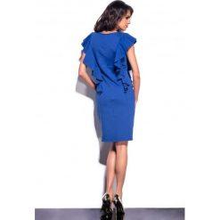 Elegancka sukienka z falbankami chabrowa JESSICA. Niebieskie sukienki balowe Lemoniade, z falbankami. Za 99,00 zł.