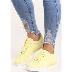 Żółte Buty Sportowe Seems to Change. Żółte buty sportowe damskie marki Kazar, ze skóry, na wysokim obcasie, na obcasie. Za 69,99 zł.