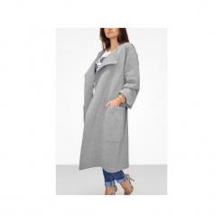 Długi płaszcz damski wiązany na pasek. Czarne płaszcze damskie Bien fashion, l, w paski, z bawełny. Za 199,00 zł.