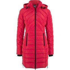 Długa kurtka pikowana, ocieplana bonprix czerwony. Czerwone kurtki damskie pikowane bonprix. Za 239,99 zł.