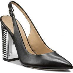 Sandały damskie: Sandały GUESS - Rikki FLRIK1 LEA05 BLACK