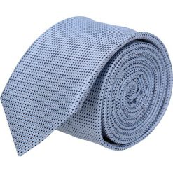 Krawaty męskie: krawat platinum niebieski classic 216