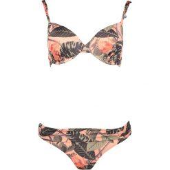 """Stroje kąpielowe damskie: Bikini """"Moana"""" w kolorze zielono-jasnoróżowym"""