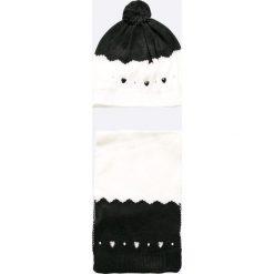 Brums - Czapka + szalik dziecięcy. Szare czapki damskie marki B'TWIN, na zimę, z elastanu. W wyprzedaży za 99,90 zł.