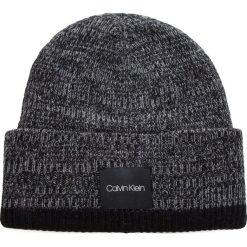 Czapka CALVIN KLEIN - Twisted Yarns Beanie K50K504091 910. Szare czapki męskie Calvin Klein, z materiału. Za 179,00 zł.
