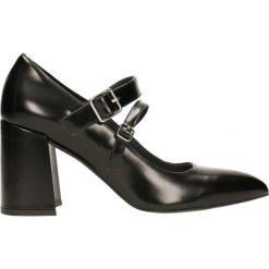 Czółenka HARUMI. Czarne buty ślubne damskie Gino Rossi, ze skóry, na wysokim obcasie. Za 299,90 zł.