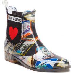 Kalosze LOVE MOSCHINO - JA21013G06JQ0000 Nero. Czarne buty zimowe damskie Love Moschino, z materiału. Za 559,00 zł.