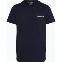 Review - T-shirt męski, niebieski. Niebieskie t-shirty męskie Review, m, z klasycznym kołnierzykiem. Za 29,95 zł.