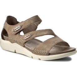 Rzymianki damskie: Sandały JANA – 8-28600-28 Taupe Suede 377