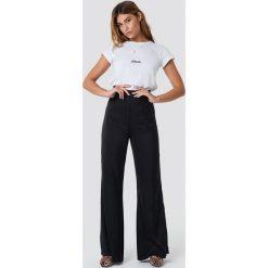 XLE the Label Spodnie Meredith Palazzo - Black. Czarne spodnie z wysokim stanem XLE the Label. Za 200,95 zł.