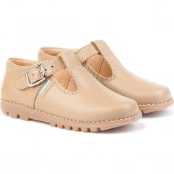 Skórzane półsandały w kolorze karmelowym. Niebieskie sandały chłopięce marki geox kids, z gumy. W wyprzedaży za 185,95 zł.
