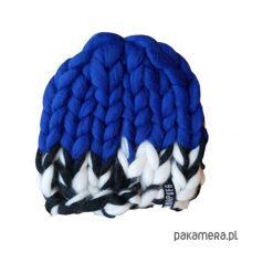 Czapki męskie: Wełniana ciepła czapka Beanie w grubym splocie