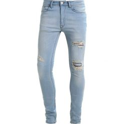 Rurki męskie: Antioch RIPPED SPRAY ON Jeansy Slim Fit light blue wash