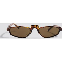 NA-KD Accessories Okulary przeciwsłoneczne retro - Brown. Brązowe okulary przeciwsłoneczne damskie lenonki marki NA-KD Accessories. Za 52,95 zł.