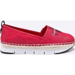 Calvin Klein Jeans - Espadryle. Czerwone espadryle damskie marki Napapijri, z materiału. W wyprzedaży za 299,90 zł.