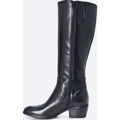 Tamaris - Kozaki. Szare buty zimowe damskie Tamaris, z materiału, z okrągłym noskiem. W wyprzedaży za 239,90 zł.