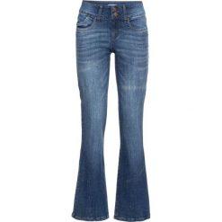 Dżinsy ze stretchem BOOTCUT bonprix niebieski. Niebieskie jeansy damskie bootcut marki bonprix. Za 79,99 zł.