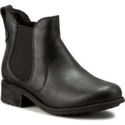 Sztyblety UGG - W Bonham 1013893 W/Blk. Czarne buty zimowe damskie Ugg, z nubiku, na obcasie. Za 899,00 zł.