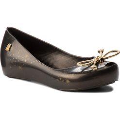 Baleriny damskie lakierowane: Baleriny MELISSA – 32391 Black Gold 06493