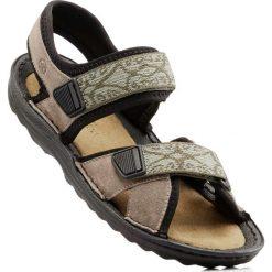 Sandały trekkingowe ze skóry bonprix beżowy. Brązowe buty trekkingowe damskie bonprix, ze skóry. Za 139,99 zł.