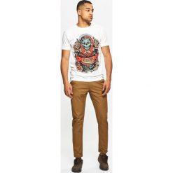 Chinosy męskie: Materiałowe spodnie typu chino – Beżowy