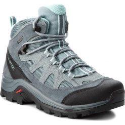 Trekkingi SALOMON - Authentic Ltr Gtx W GORE-TEX 404644 21 V0  Lead/Stormy Weather/Eggshell Blue. Niebieskie buty trekkingowe damskie Salomon. W wyprzedaży za 479,00 zł.