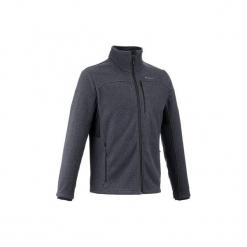 Kurtka polarowa turystyczna Forclaz 500 męska. Czarne kurtki męskie marki QUECHUA, m, z elastanu. W wyprzedaży za 69,99 zł.